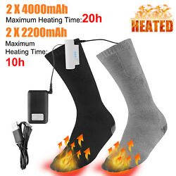 Heated Socks Rechargeable Battery 3.7V Electric Feet Winter Warm Skiing Hunting