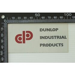 VINTAGE DUNLOP INDUSTRIAL PRODUCTS RETAIL ADVERTISING SHOP PROMO STICKER