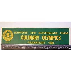 VINTAGE AUSTRALASIAN GUILD OF PROFESSIONAL COOKS CULINARY OLYMPICS PROMO STICKER