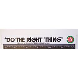 VINTAGE DO THE RIGHT THING TASMANIA GOVERNMENT LITTER REDUCTION CAMPAIGN STICKER