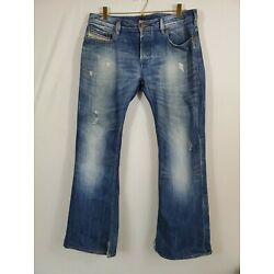 Diesel Mens Jeans 31/30 Zathan Distressed Fits 34/29 Button Fly