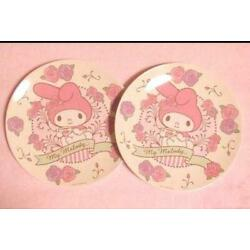 Price cut  My Melody Melamine Plate 2 Sheets Tableware Plate Rose New Super R