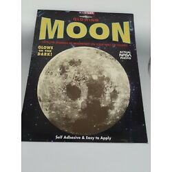 Vintage Glow in the Dark MOON Sticker Decal Wall Ceiling NASA 8'' Round New
