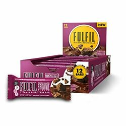 FULFIL Protein Bars Chocolate Brownie with 15g Protein and 8 Vitamins, 12 Counts