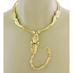 Vintage Tiffany & Co. Peretti 18k Gold Large Scorpion Collar Necklace 1970's