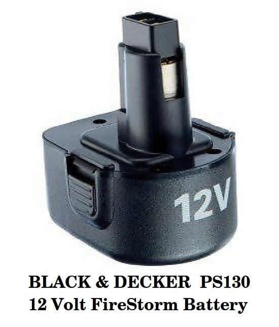 black decker ps130 12 volt firestorm battery new ebay. Black Bedroom Furniture Sets. Home Design Ideas