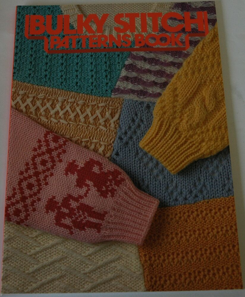 Knitting Equipment Uk : Bulky stitch patterns book for chunky knitting machine