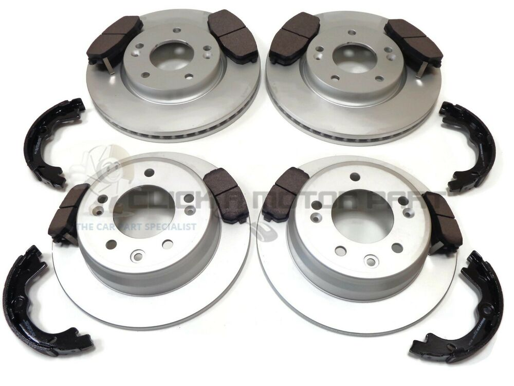 PADS FOR HYUNDAI i30 FD ESTATE 2007-2012 REAR BRAKE DISCS SET SHOES KIT