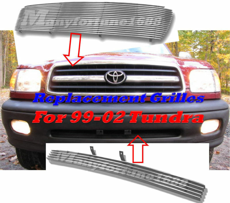 99 00 01 02 2001 2002 toyota tundra billet grille combo ebay. Black Bedroom Furniture Sets. Home Design Ideas