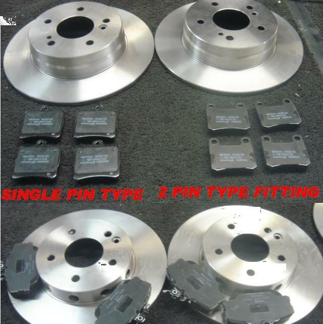 mercedes c180 c200 c220 brake discs pads front rear ebay. Black Bedroom Furniture Sets. Home Design Ideas