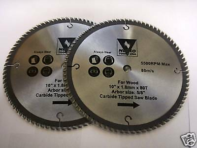 2 10 Neiko Circular Table Miter Saw Blades Carbide 80t Ebay