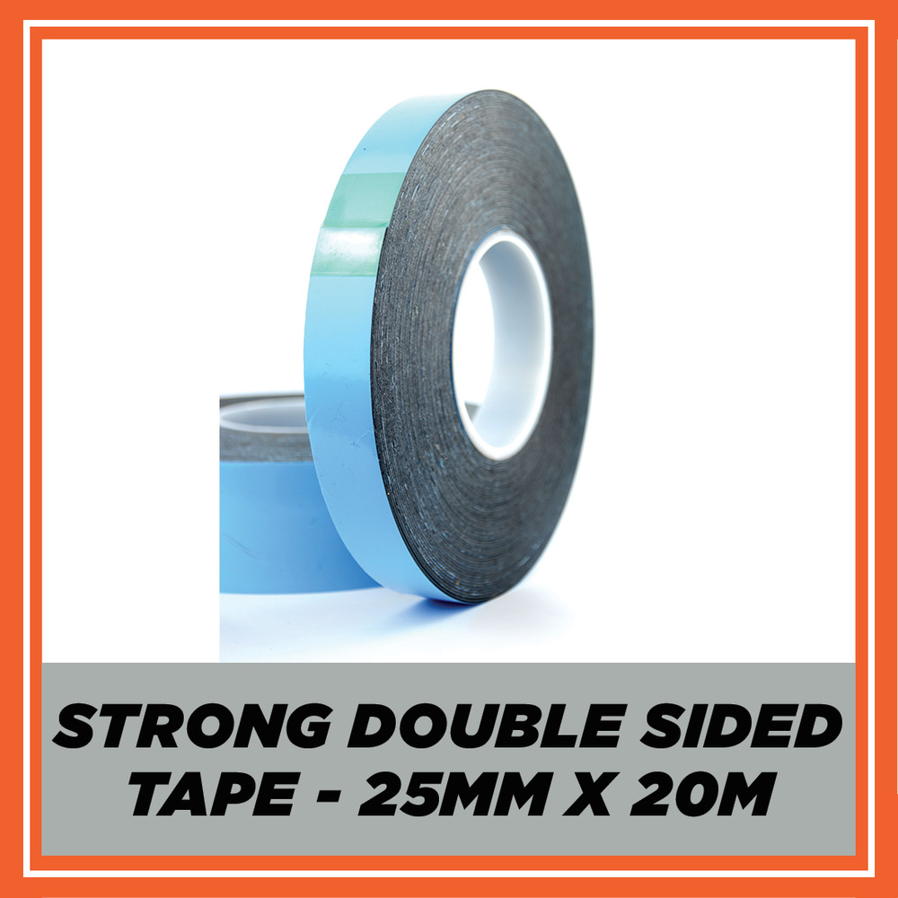 Double Sided Car Body Trim Badge Number Plate Tape 25mm Ebay