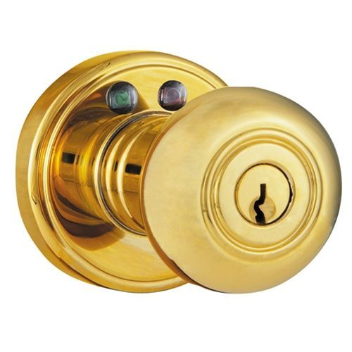 Wireless Door Lock Remote Controlled Rf Door Knob Brass Ebay