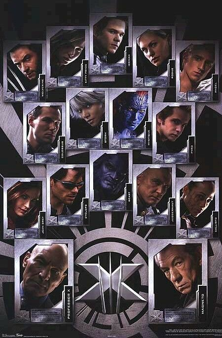MOVIE POSTER ~ X-MEN 3 LAST STAND CAST BIOS X3 XMEN | eBay