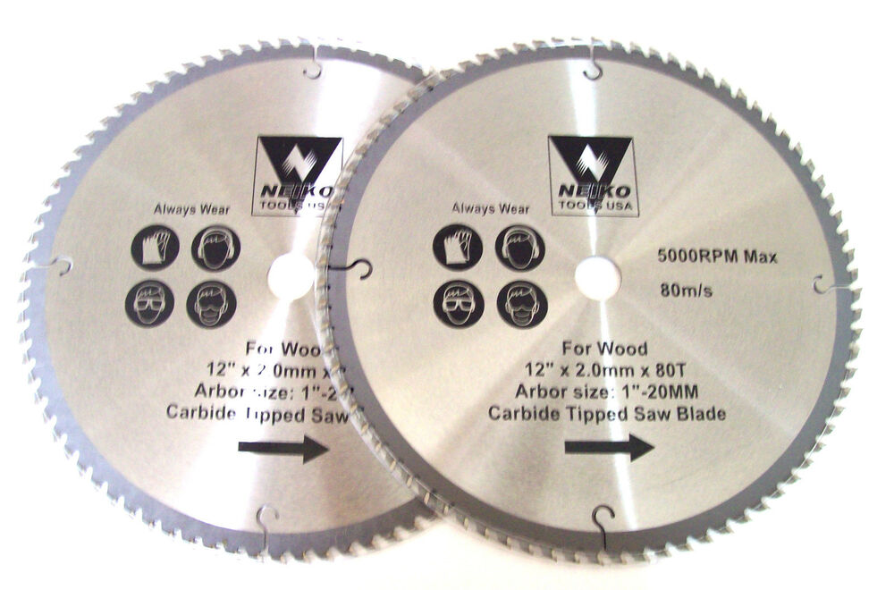 12 quot 80t circular table miter saw blades carbide tip ebay