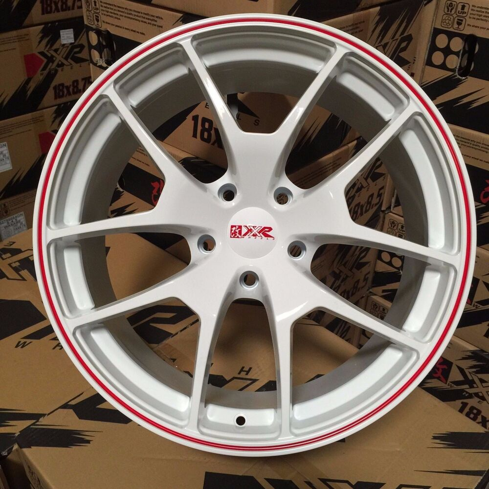 19 XXR 518 Wheels Rims White Red Stripe 08 09 10 11 12 13