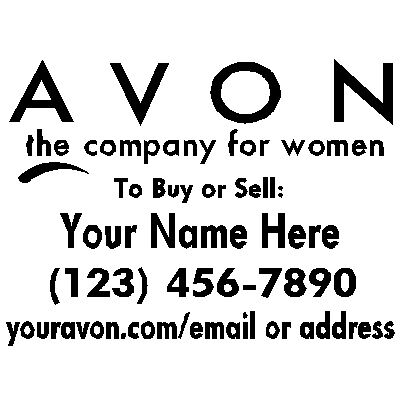 Avon Lady Cosmetics Sticker Logo Window Vinyl Decal Ebay