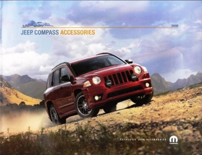 2008 08 jeep compass accessories original brochure ebay. Cars Review. Best American Auto & Cars Review