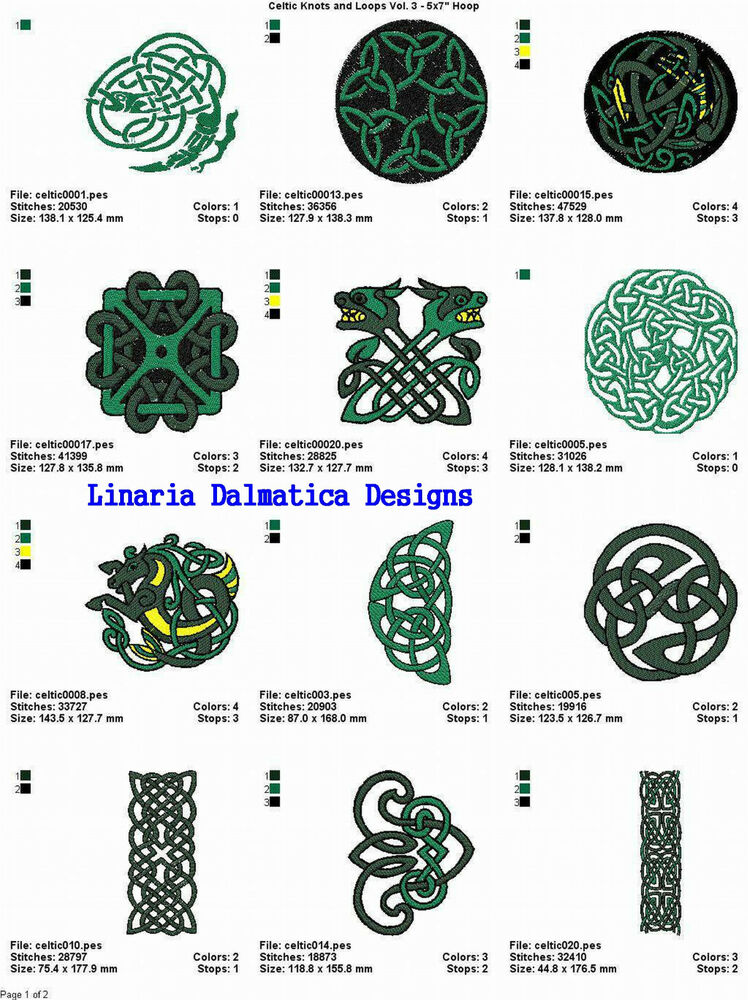 celtic designs v3 5x7 machine embroidery designs ebay