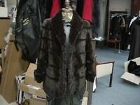 "SHEARED CHOCOLATE BROWN MINK CHINCHILLA 28"" JACKET Coat FULLY REVERSIBLE GORGEOU"