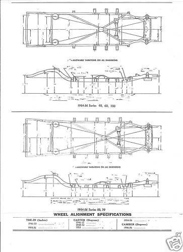 1954 55 56 buick special century nos frame dimensions