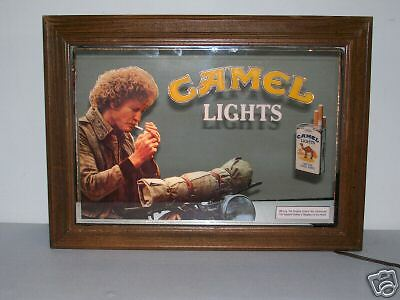 Vintage Camel Cigarette Light Up Sign Mirror Ebay