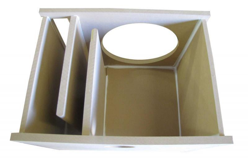Custom single vented subwoofer box 15 3 4 mdf ebay for L ported sub box design