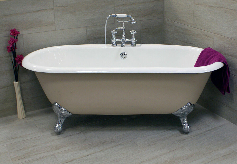 cast iron bath ball claw feet double ended classic roll top