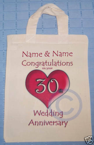 PERSONALISED - 30th WEDDING ANNIVERSARY GIFT BAG Pearl eBay