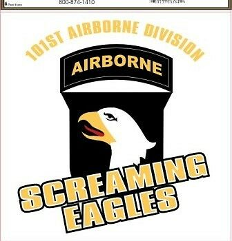 Army 101st airborne screaming eagles military decal ebay for 101st airborne window decals