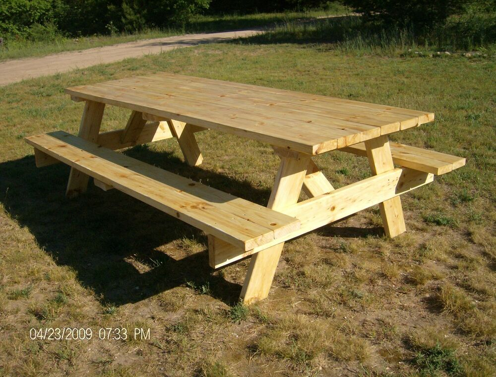 building plans for picnic table bench