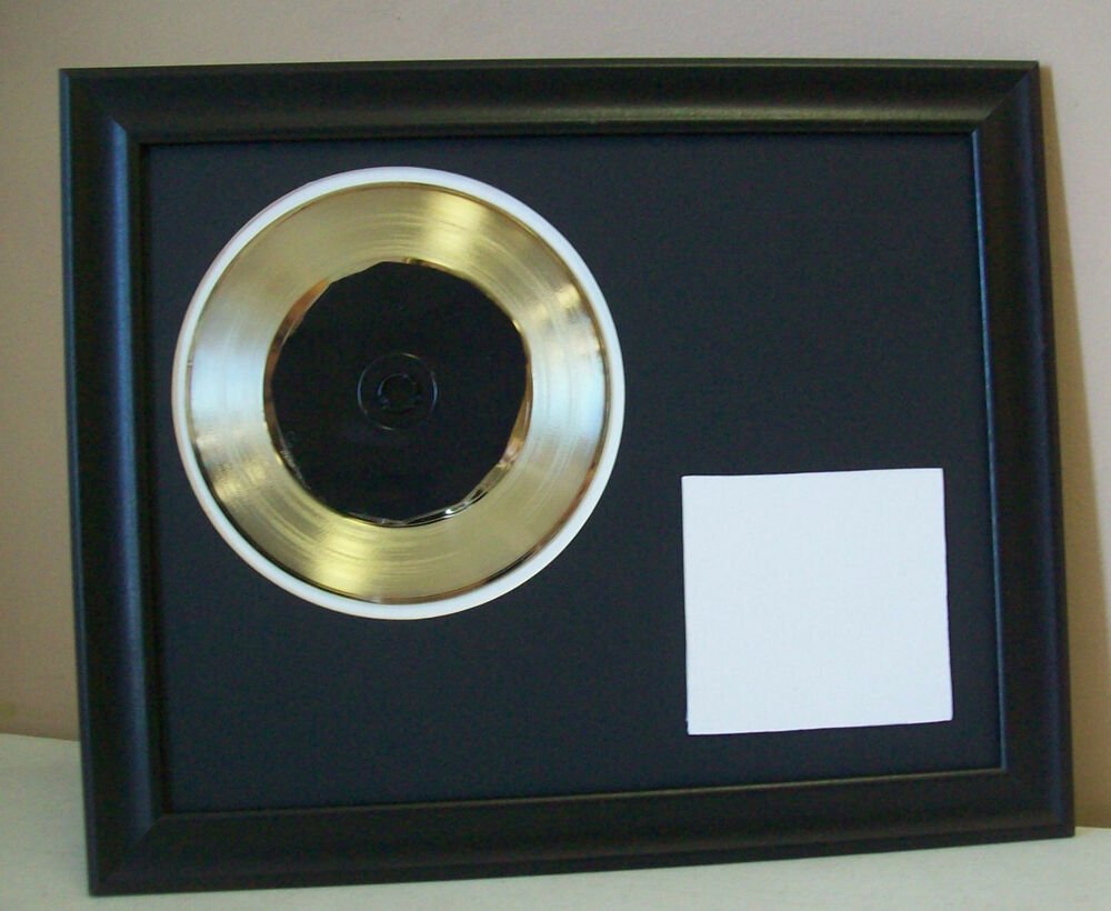 Blank Gold 45 Record Award Custom Cd Dvd Display Trophy Ebay