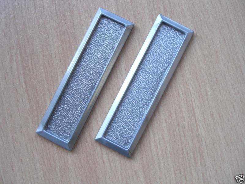 Vivarium Sliding Glass Door Handles Finger Pulls Silver Ebay