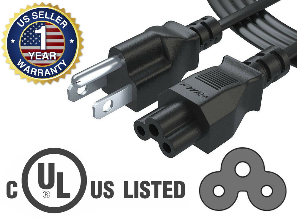 Laptop Power Cord : Pwr ft prong ac power cord cable for dell hp compaq