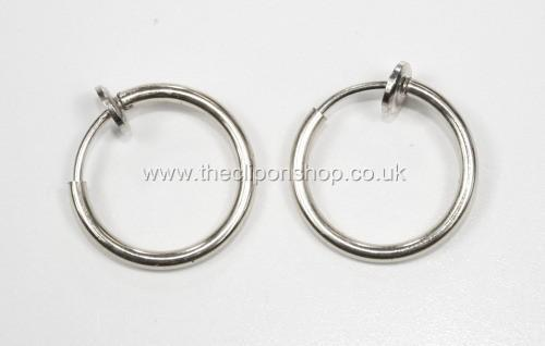 Amazing Small Comfy Clip On Hoops Silver Hoop Earrings Ebay