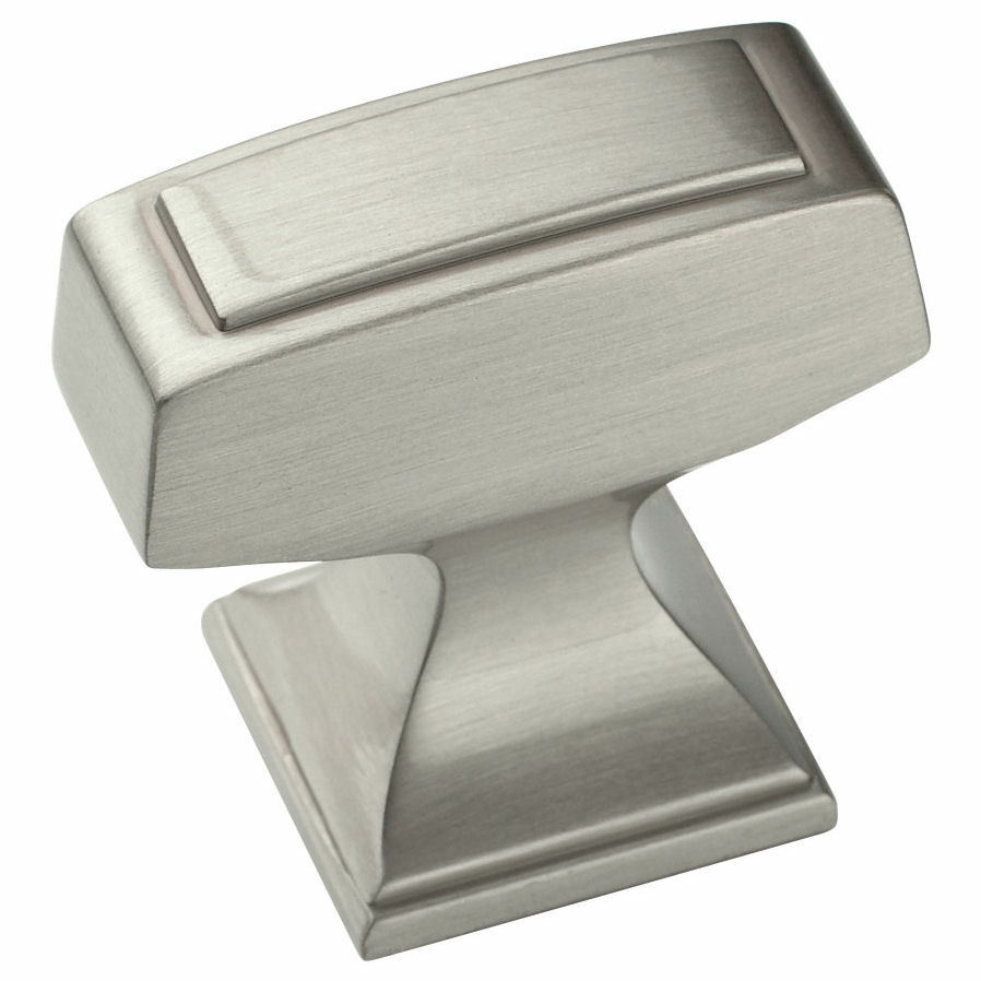 Cabinet hardware brushed satin nickel knobs 53029 g10 ebay for Brushed nickel hinges for kitchen cabinets