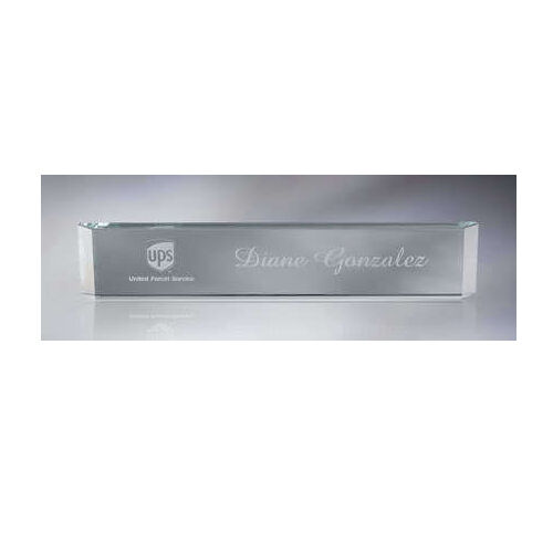 personalized glass name plate for work office desk gift ebay