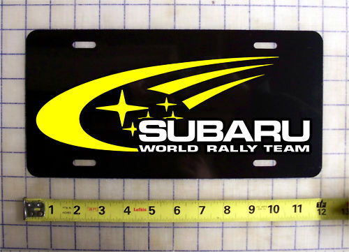 Subaru World Rally Team Custom License Plate Car Tag Ebay