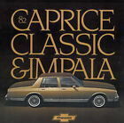 1982 CHEVROLET CHEVY CAPRICE IMPALA SALES BROCHURE BOOK
