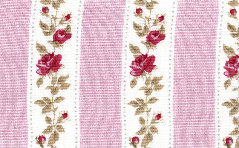 Cotton curtain upholstery shabby chic floral rose pink ebay