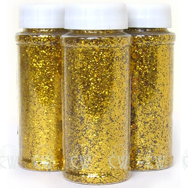 Gold glitter 100g in shaker pot perfect for art craft for Arts and crafts glitter