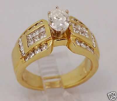 18 Karat Yellow Gold 2 Ct Diamond Engagement Ring Ebay