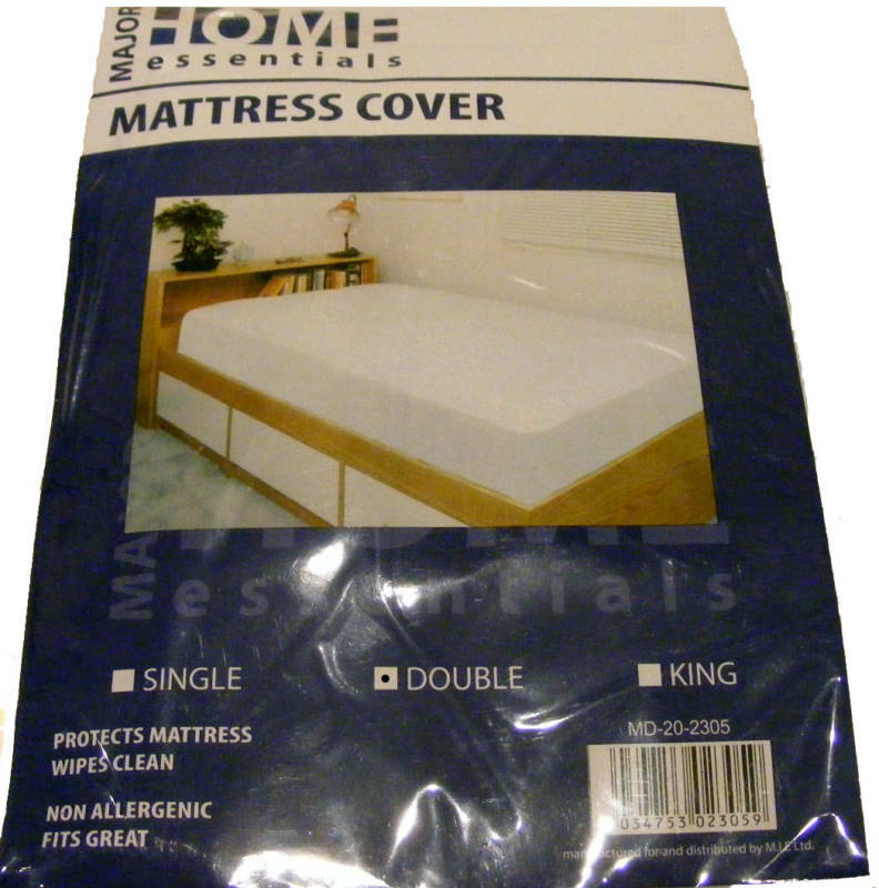Double Plastic Mattress Bed Wetting Sheet Protector Ebay