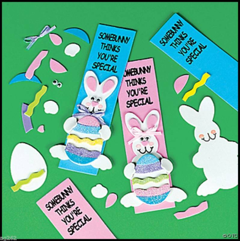 Easter bunny bookmark craft kit for kids spring abcraft ebay for Bookmark craft for kids