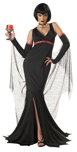 immortal seductress vampire gothic adult costume ebay. Black Bedroom Furniture Sets. Home Design Ideas