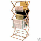 Wooden Airer Dryer 6m Drying Space Folding Clothes Horse Rack Indoor Outdoor