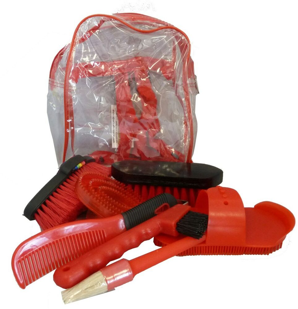 Bentley Slip Not Hoof Brush Pink At Burnhills: Horse Tack Brushes Grooming Kit Set Barn Supply Red