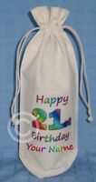 PERSONALISED - 21st BIRTHDAY BOTTLE BAG Wine Champagne
