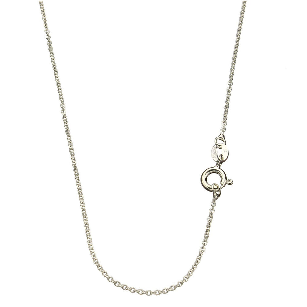 925 Sterling Silver Fine Cable Chain Necklace Italy Ebay