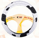 STEERING WHEEL COVER..and sbc ..black-white cow nice